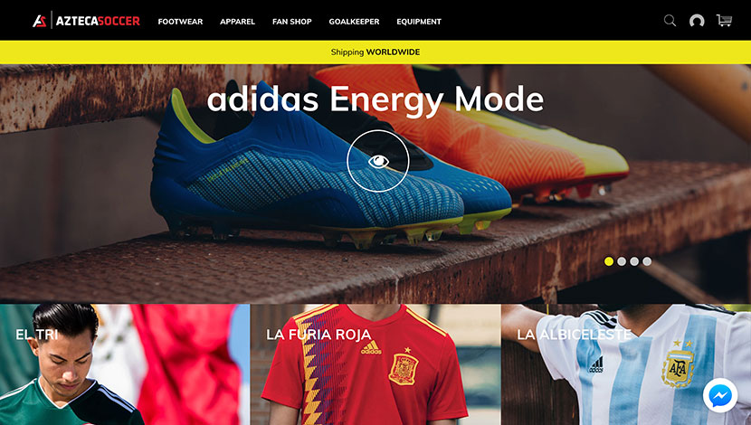10 mejores ecommerce de julio Azteca Soccer