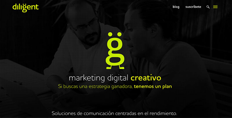 diligent desarrollo web en barcelona y marketing digital