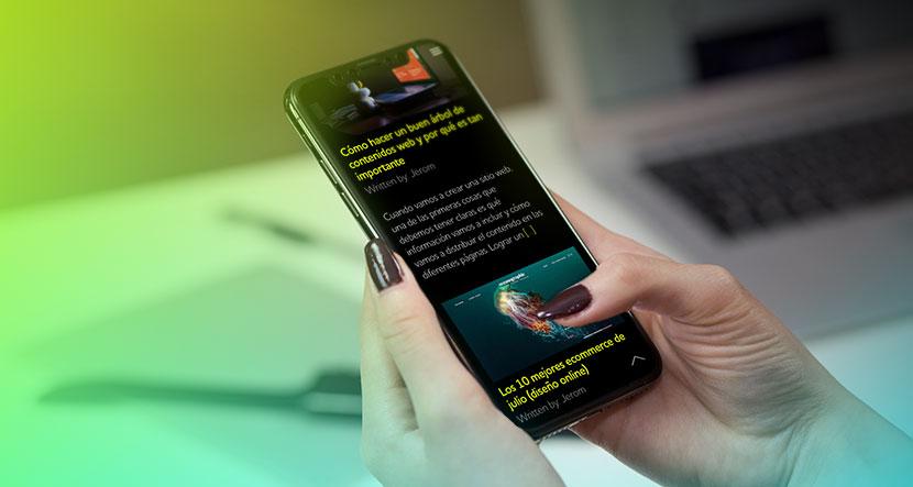 buena experiencia de usuario en móviles