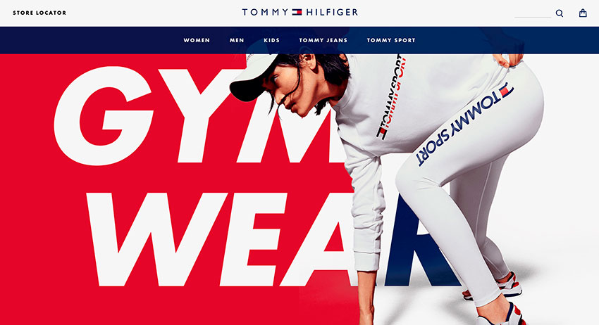 las mejores web del mes Tommy Hilfiger