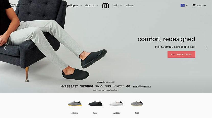 los mejores diseños webs Mahabis