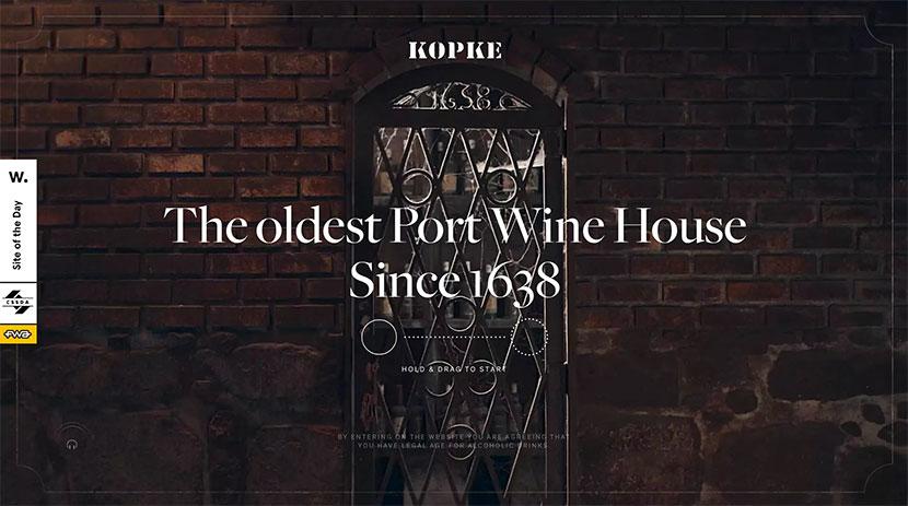 Diseños web del mes Kopke 1638