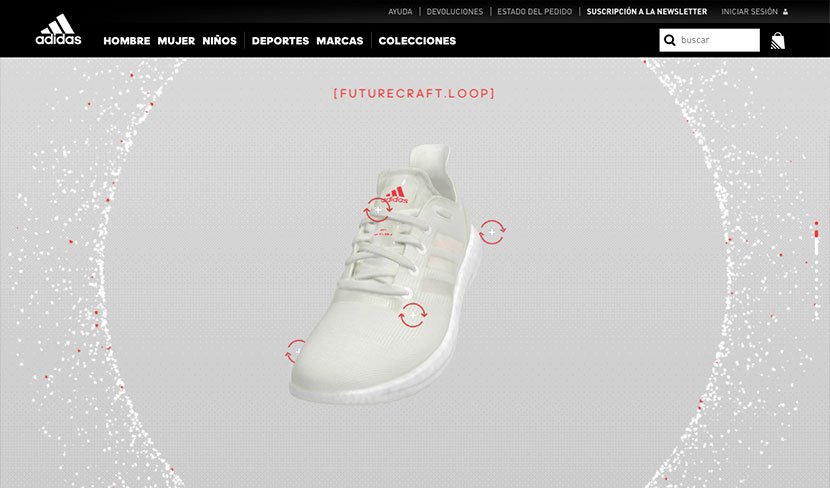 mejores ecommerce de agosto Adidas Futurecraft